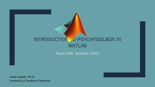 Introduction to PsychToolbox in MATLAB - Jona...