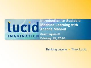 Introduction to scalable machine learning wit...