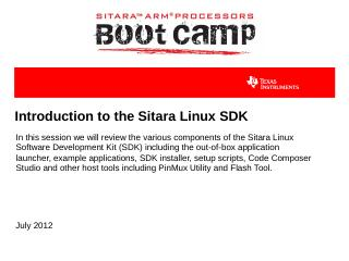 Introduction to the Linux SDK - TI Training -...