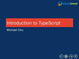 Introduction to TypeScript - Meetup