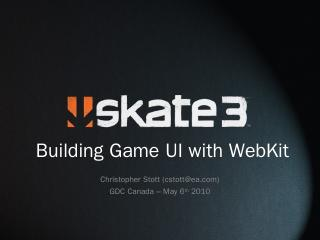 Introduction tO WEBKIT