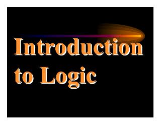 001-introduction to logic