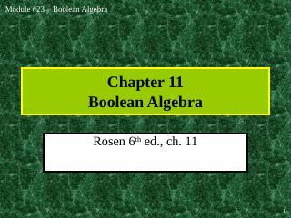 006-boolean algebra