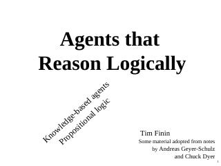 009-agents that  reason logically