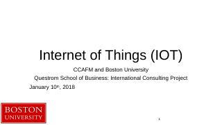 IOT - Language of Business