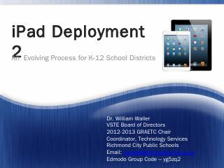 iPad Deployment - VSTE
