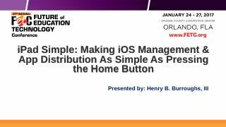 iPad Simple: Making iOS Management & App Dist...