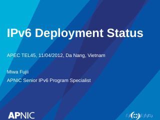 IPv4 Address Exhaustion 2012 - apnic