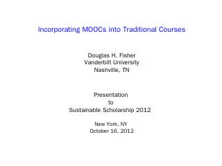 ITHAKA Presentation-10-16-12 - Vanderbilt Uni...
