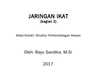 JARINGAN IKAT - TADRIS BIOLOGI IAIN JEMBER
