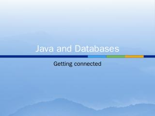 Java and Databases - Heartland Community College