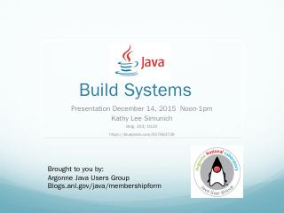 Java Build Systems - Argonne Blogs