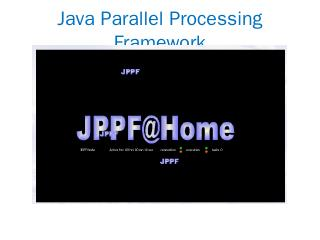 Java Parallel Processing Framework