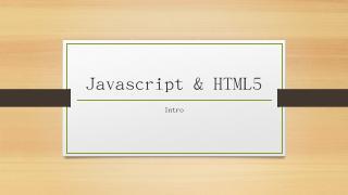 Javascript & HTML5 - The Art of Zombie