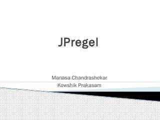 JPregel - Kowshik - GitHub