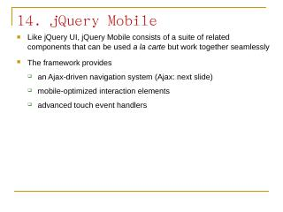 jQuery mobile slides