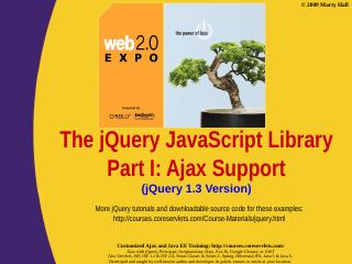 jQuery Part I: Ajax Support
