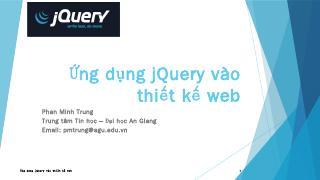 jQuery - trung tâm ti...