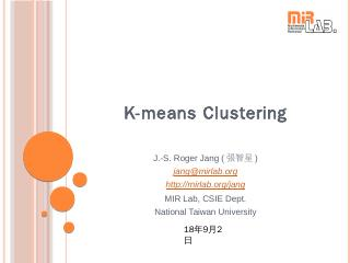 K-means Clustering - MIRLab