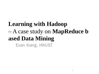 K-Means Clustering with MapReduce - cse, hkust