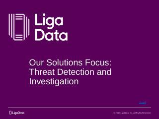 Kamanja Case Studies - LigaData