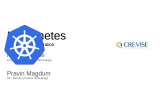 Kubernetes - Pune data conference