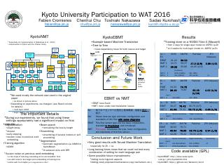 Kyoto University Participation to WAT 2016 - ...