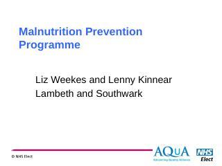 LAMP presentation - Malnutrition Task Force