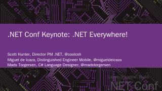 Learn. Imagine. Build. .NET Conf - Channel 9