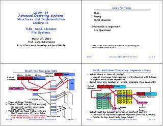 页表缓存和对象缓存文件系统