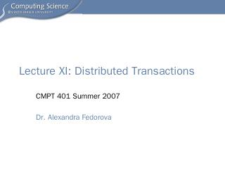 Lecture11 distributed transactions