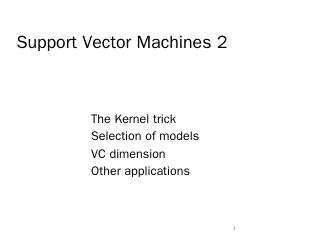 Lecture 5 Support Vector Machines