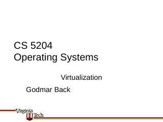 lecture virtualization