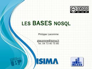Les bases NoSQL - ISIMA