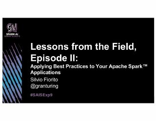 lessons from the field, episode ii applying b...