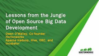 Lessons from the Jungle of Open Source Big Da...