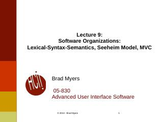 Lexical-Syntax-Semantics, Seeheim Model, MVC