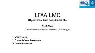 LFAA LMC - SKA Indico