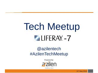 Liferay7TechMeetup-PPT