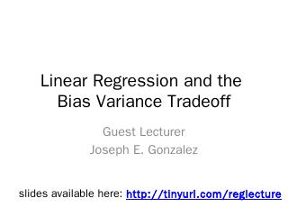 Linear Regression - People @ EECS at UC Berkeley