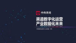 《渠道数字化运营 行业数据化未来》中商惠民...