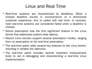 Linux and Real Time - WordPress.com