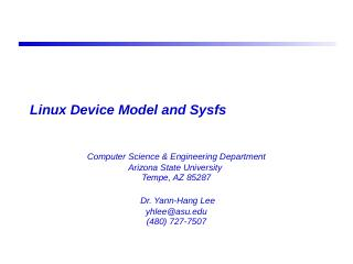 Linux Device Model and Sysfs - Real-Time Embe...