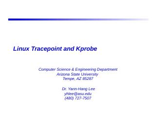Linux Tracepoint and Kprobe - ASU