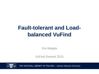 Load-balanced and Fault-tolerant VuFind