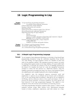 logic programming in LISP