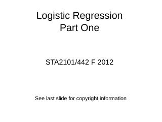 Logistic Regression - Department of Statistic...