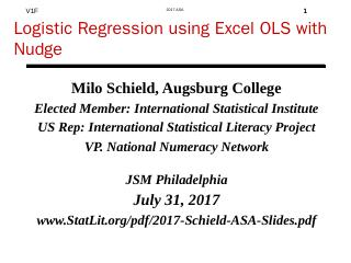 Logistic Regression using Excel OLS with Nudg...