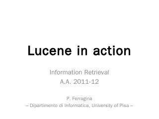 Lucene in action - DidaWiki