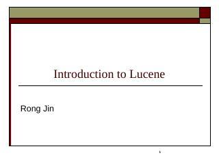 Lucene.Net - MSU CSE